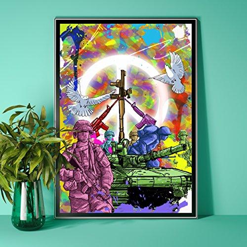 Soldaten Bundeswehr Poster Plakat für das Wohnzimmer Kunstdruck Bild - ungerahmt - INDIVIDUELLE GRÖßE tolle Geschenkidee mit Flair - Fine Art Print Leinwanddruck ab DIN A4-80x120 cm XXL