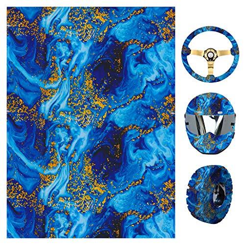 Youliy Wassertransferdruck, Wassertransferdruck, Hydro-Dip-Folie, blaue Flamme, geeignet für Helm, Reifen, Lenkraddekoration Large