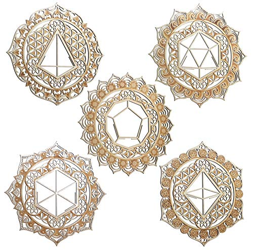 ZenVizion 13.5' 5 Mandalas Wall Decor Set, 5 Elements...