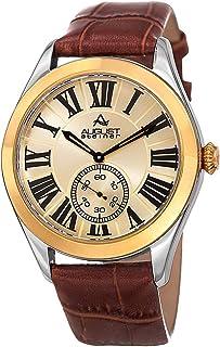 August Steiner Men's Leather Band Watch