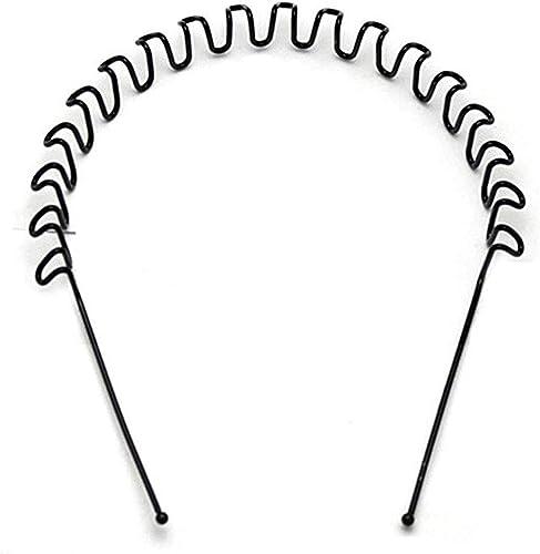 Black Zigzag Hair Band Wave Hair Band Metal Hair Band Zigzag Headband For Men