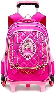 XHHWZB Kids Rolling Backpacks Luggage 6 Wheels Unisex Trolley School Bags