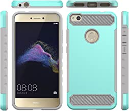 ShiningLove Huawei P8 Lite (2017)/Nova Lite/Huawei P9 Lite (2017) Case, Heavy Duty Anti-Scratch Dual Layer [Hard PC+ Silicone] Full Body Protective Case Shockproof Impact Protection Cover Mint Green