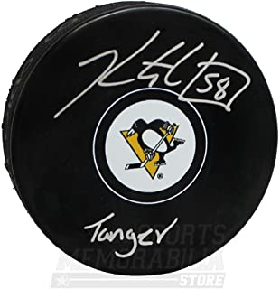 Kris Letang Pittsburgh Penguins Signed Autographed Tanger Inscribed Hockey Puck