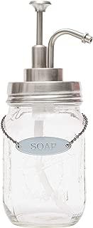KreaSHen Mason Jar Soap Dispenser, Soap/Lotion Label Tag (Vintage Nickel)