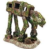 SLOCME Acuario Imperial Walker Robot Decoraciones de Perro - Pecera Robot de resina Betta Fish Esconder Cueva Ornamento