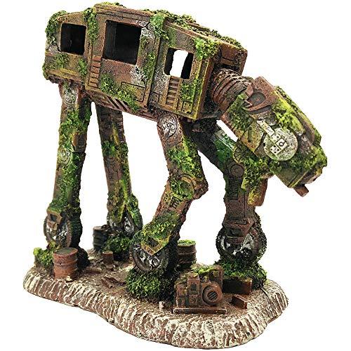 SLOCME Aquarium deko Imperial Walker Roboter Hund Dekoration – Aquarium roboter Höhle Ornament