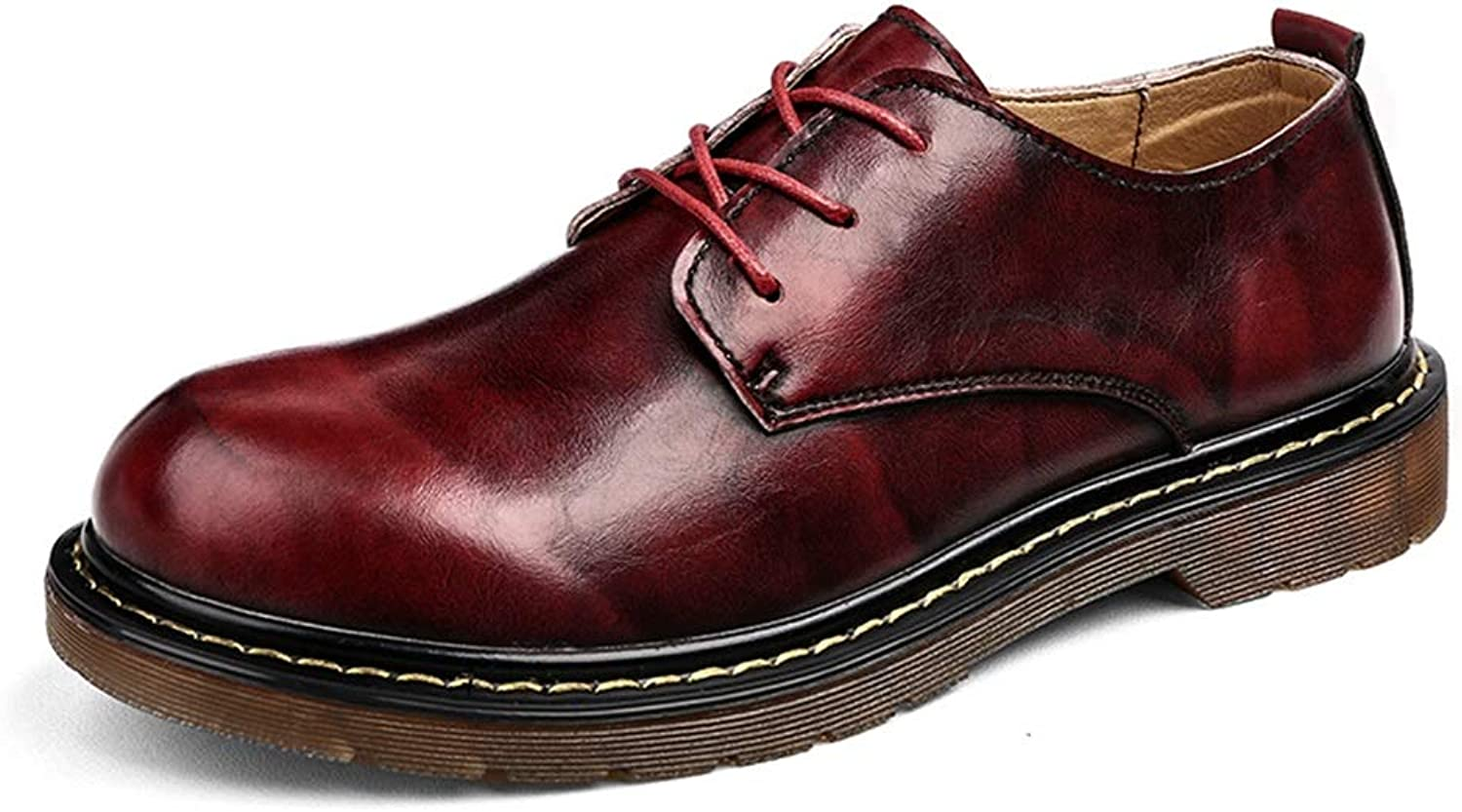 IWGR Oxford shoes for Men Formal shoes Lace Up Style OX Leather Vintage Fashion Outsole British Style