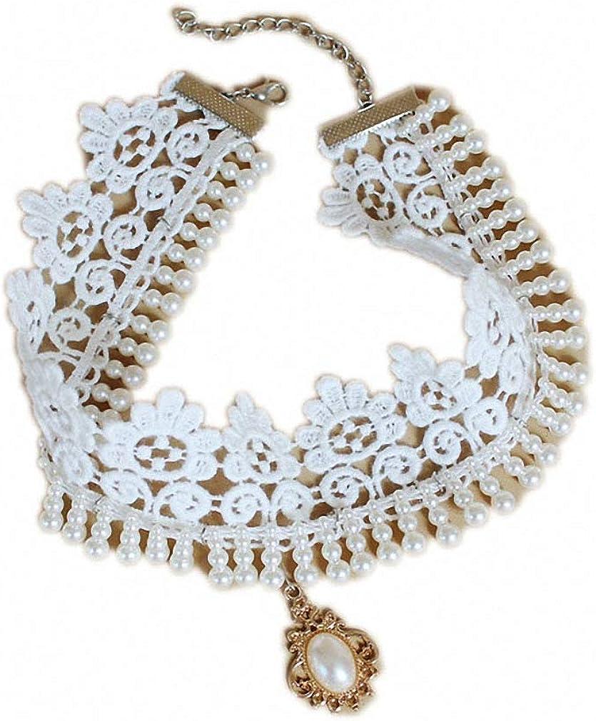 Xileg Necklace Lace Necklace & Pendant Vintage Women Accessories Gothic Jewelry False Collar Statement Necklaces