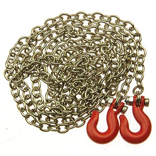 ZuoLan 1/10 Echelle 890mm longue chaîne avec crochets rouges pour SCX10 AX10 rc voiture crawler / Truck Accessoires