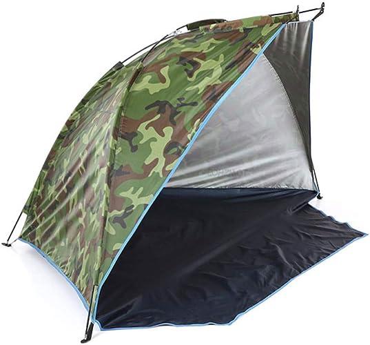 KUDYN 2019 abris de tentes de Plage en Plein air à l'ombre 2-3 Personnes Prougeection UV Tente Ultra-légère pour la pêche Pique-Nique Parc,Camouflage