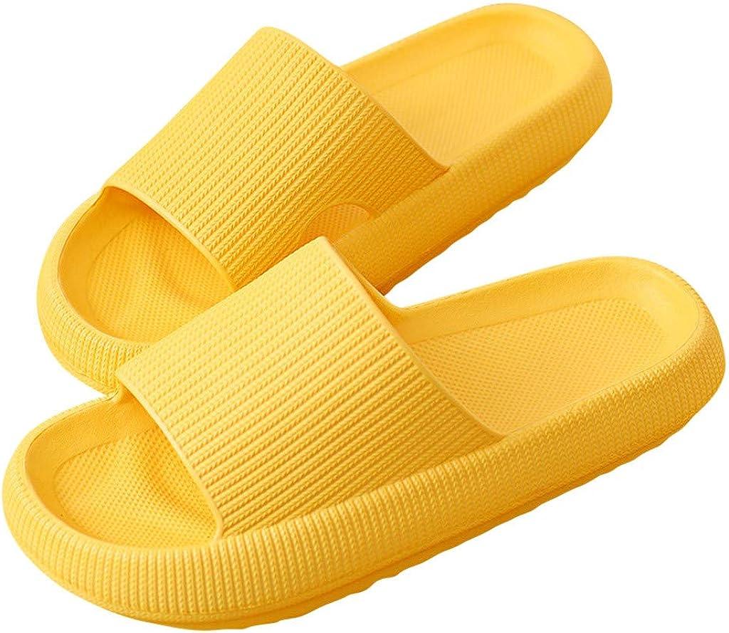 IHGWE Chanclas de baño unisex para mujer, sandalias para estar por casa, para verano, jardín, antideslizantes, plataforma