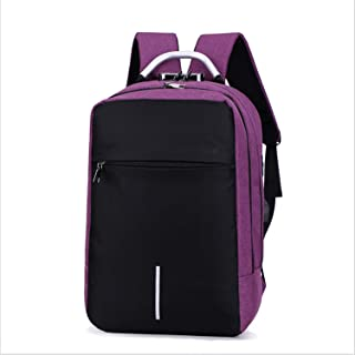 Anti-Theft Backpack,Business Travel Laptop Backpack with USB Charging and Headphone Port,Water Resistant Backpack Purple