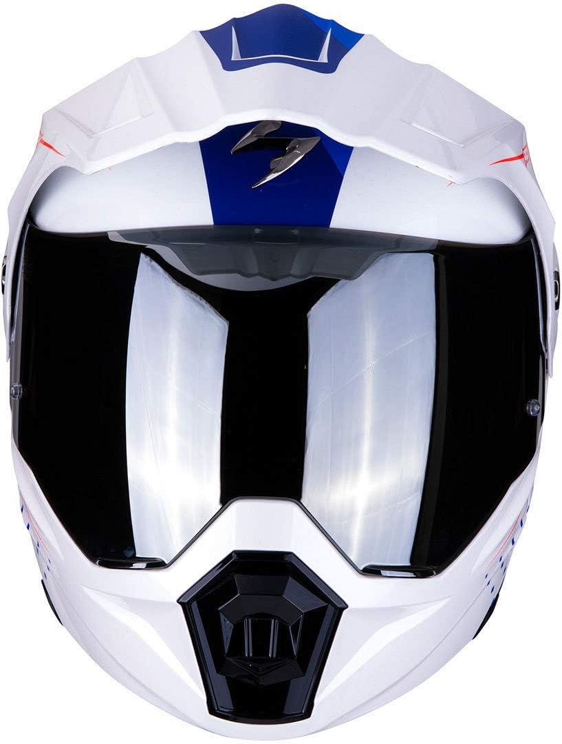 Scorpion Motorradhelm Adx 1 Horizon Matt Black Neon Red Schwarz Rot Xs Auto