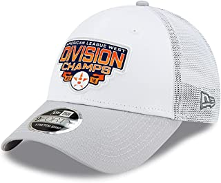 New Era MLB Houston Astros 9FORTY American League West ALW Division Champions 2019 Snapback Trucker Hat, Mesh Panels Cap W...