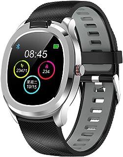 ONEYMM Smartwatch Reloj Inteligente Termómetro Pulsera Actividad Inteligente con Pulsómetro Monitor de Sueño Podómetro Impermeable Calorías Mujer Hombre para iOS y Android,Black Silver