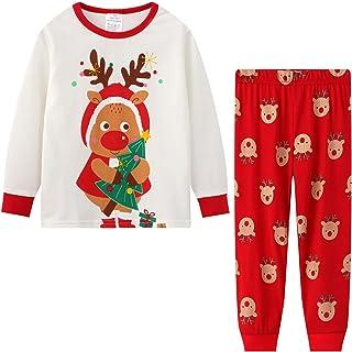Toddler Boys Pajamas Sets Kids Pjs Sleepwear Cotton Solid...