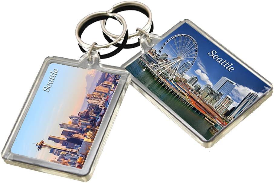 KR007 Seattle City Keychain United States Travel Photo Keyring