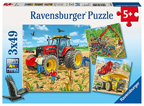 Ravensburger Kinderpuzzle 08012 - Große Maschinen - 3 x 49 Teile