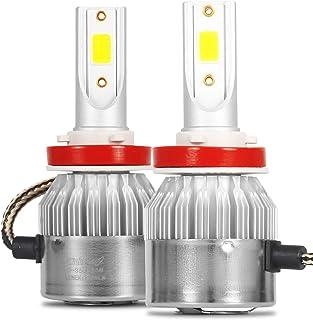 Kit Par de Lâmpada Super Led H11 Farol 6000k Branco Frio Efeito Xênon 7600 Lm com Cooler Automotivo para Carro