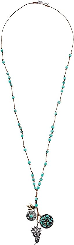 Lucky Brand - Mosaic Charm Long Necklace