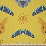 ABAKUHAUS Känguru Stoff als Meterware, Aboriginal Art