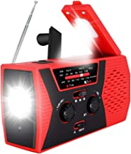 2020 Upgraded Emergency Solar Hand Crank Radio, RegeMoudal Hand Crank AM/FM/NOAA Weather Radio with Flashlight, Reading La...