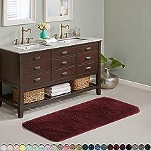 Suchtale Large Bathroom Rug Extra Soft and Absorbent Shaggy Bathroom Mat (24 x 60, Red) Machine Washable Microfiber Bath M...