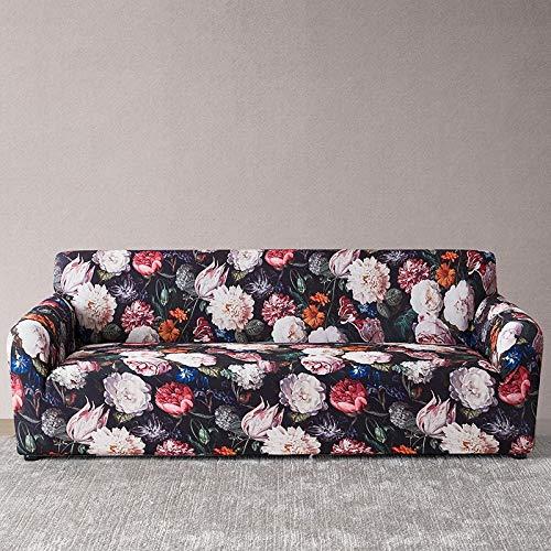 WXQY Funda de sofá Europea con Todo Incluido Fundas de sofá con Estampado Floral para Sala de Estar Sofá Toalla Funda de Muebles Sillón Funda de sofá A16 1 Plaza