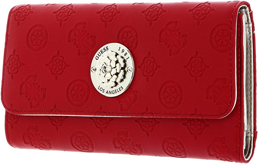 Guess, portafoglio da donna, porta carte di credito, in pelle sintetica SWSG79-68650-RED