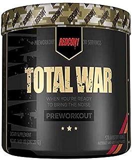 Redcon1 Total War Pre-Workout Powder - Strawberry Mango, Strawberry Mango 397 grams