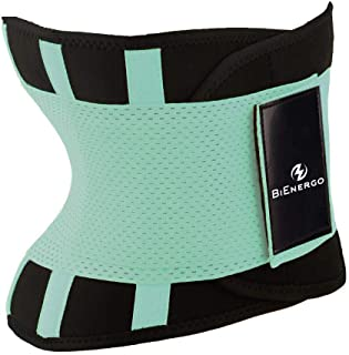 Bienergo Waist Trainer Belt for Women Men Waist Trimmer Weight Loss Sauna Sweat Workout Belt Slimming Body Shaper Exercise...