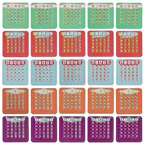 EZ Claro 7'Obturador Bingo Tarjetas por Real Suministros de Bingo - GBIN-208
