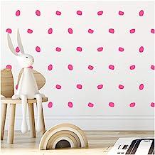 StickerDeen | London Dots Decoratie Vorm Verwijderbare Muur Art Vinyl Stickers | (Pack van 168) (Baby Roze)