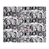CafePress I Love Lucy Face Collage Throw Blanket Soft Fleece Throw Blanket, 50'x60' Stadium Blanket