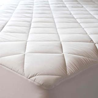 Niagara Sleep Solution 100% Cotton Quilted Mattress Protector Queen 60 x 80 Inches Fits 8-21 Deep Pocket Breathable Absorbent Mattress Pad Cover Non Noisy