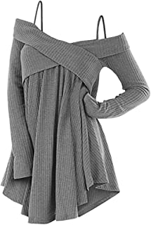 Best cold shoulder criss cross sweater Reviews