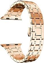 ساعة ابل سيريس 1 - 38 ملم هيكل من الالمنيوم و سوار من الستانلس ستيل لون ذهبي وردي - MMF2