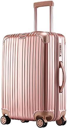 スーツケース 軽量 小型 中型 大型 wキャスター 8輪 TSA 機内持込MAX sサイズ キャリーケース キャリーバッグ カラフル (Sサイズ(機内持込MAX 38L), ローズゴールド)