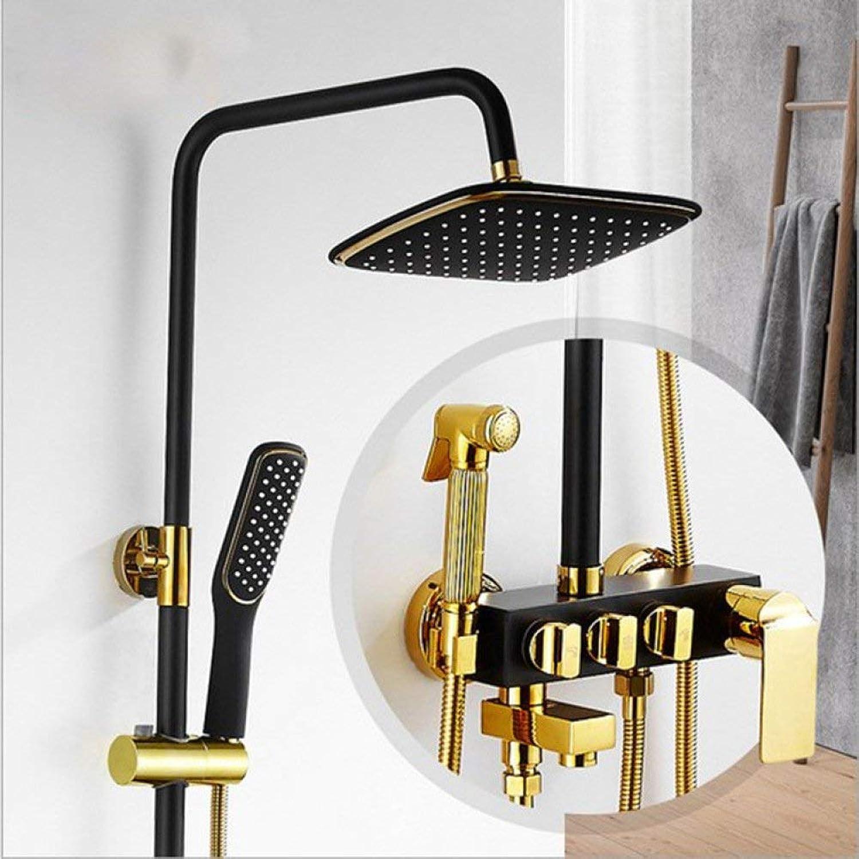 Badezimmer Dusche europischen Schwarzen alten Dusche Boost Düse vierten Gang Frau waschen Sie alle bronze Nehmen eine Dusche Dusche Fauce