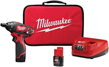Milwaukee 2401-22 M12 12 فولت ليثيوم أيون 1/4 بوصة. طقم مفك براغي سداسي لا سلكي