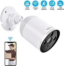 Outdoor Security Camera Wireless, WZTO 1080P HD Home Security Camera System 2MP WiFi Smart Home Camera Motion Detection Two-Way Audio IP66 Waterproof Cloud Camera with MicroSD Slot & Cloud Storage