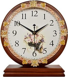 デスククロックファミリークロックミュートクロック、彫刻が施されたリビングルームの置時計、ベッドルームスタディルームの装飾リビングルームのベッドルームに最適オフィス(色:サンプル-2)