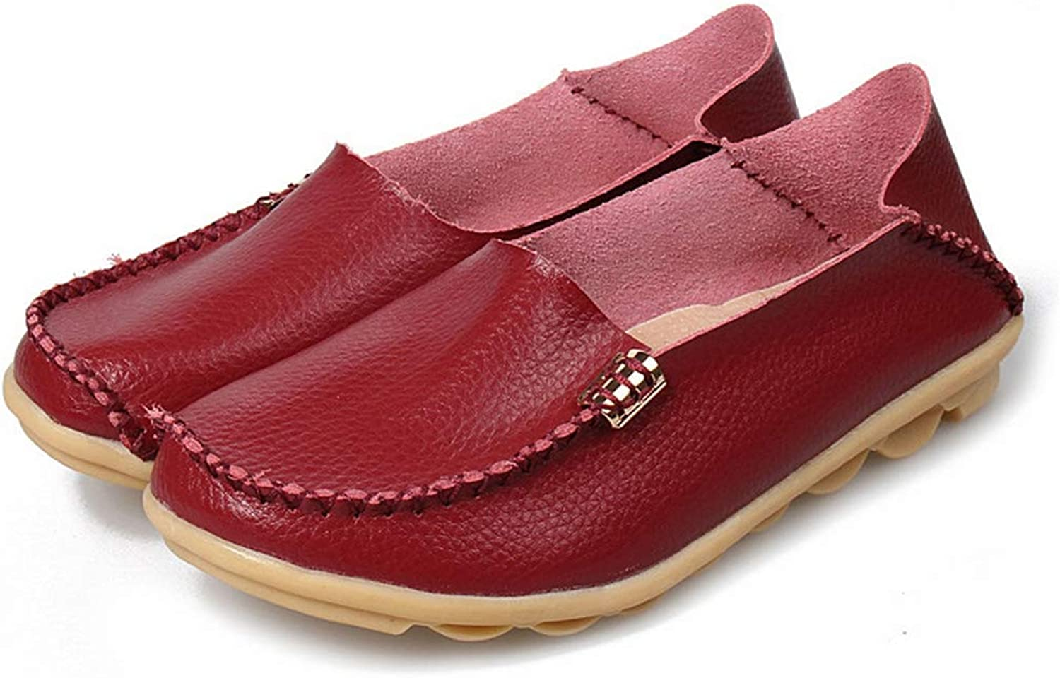 Women Real Leather shoes Comfortable Mother Loafers Soft Woman Flats shoes