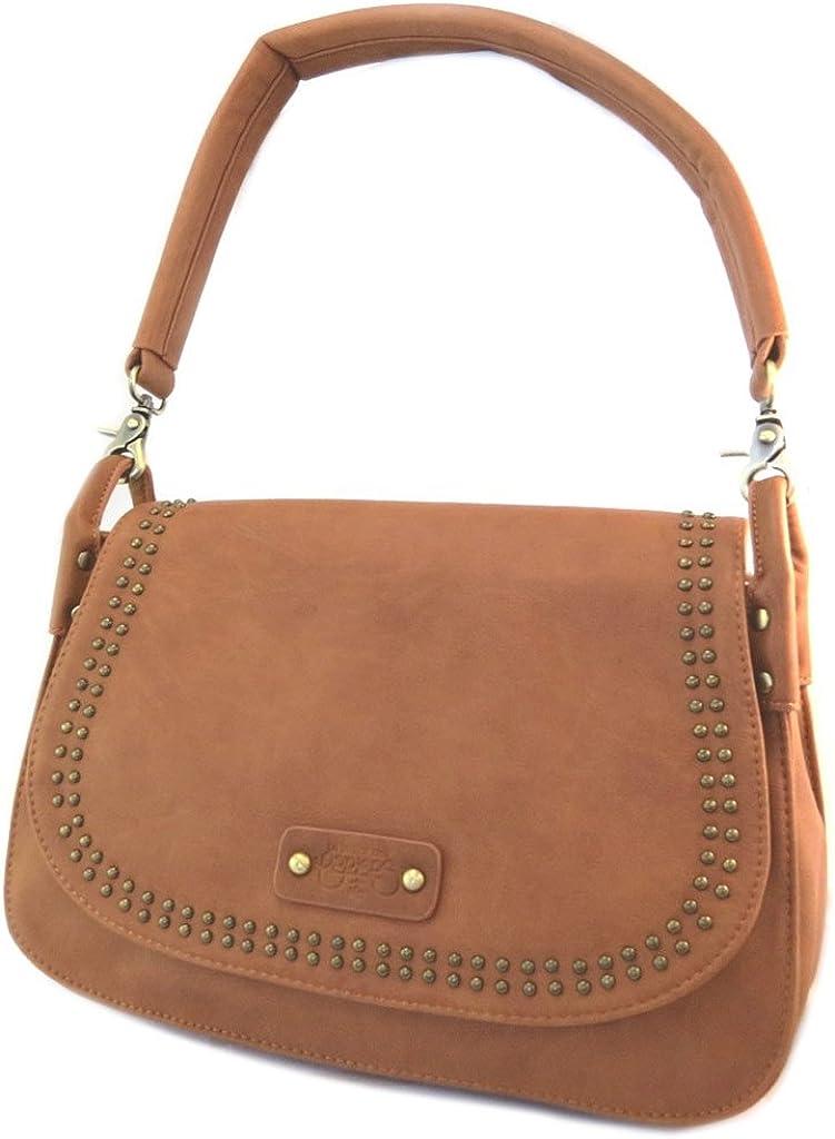 Shoulder bag 'Le Temps Des Cerises'cognac - 34x24.5x10.5 cm (13.39''x9.65''x4.13'').