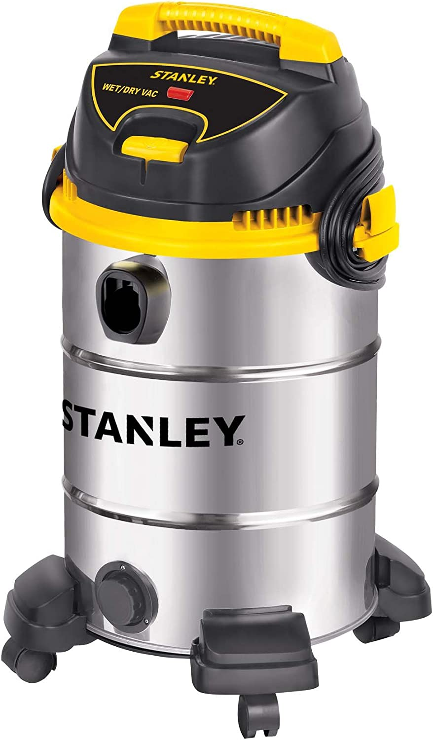Stanley Wet Dry Vacuum, 8 Gallon, 4.5 Horsepower, Stainless Steel Tank