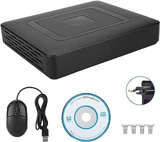 BTIHCEUOT Grabador de Video, CCTV de Seguridad de 4 Canales AHD/CVI/TVI/DVR/NVR 5 en 1 en Tiempo Real para el Sistema de vigilancia(Enchufe de la UE)