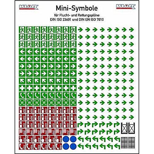 LEMAX® Aufkleber Minisymbole Rettungs- und Brandschutz Kombi DIN ISO 7010 170x210mm