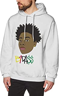 NANCYAA Men's Joey Badass B4 No Pocket Pullover Cool Hooded Sweatshirt White