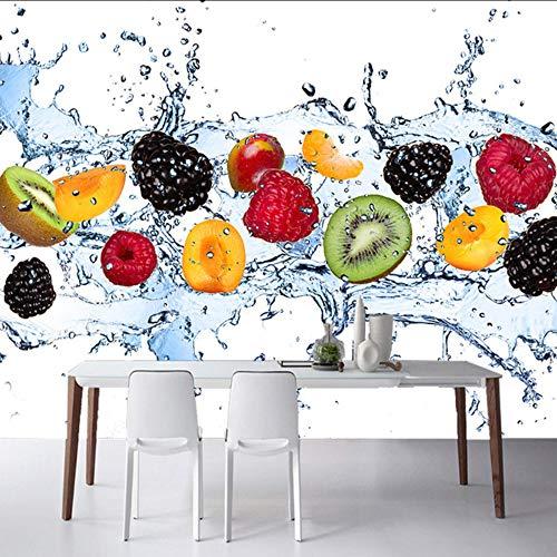 Pbbzl Fotopapier voor verse vruchten, modern, in het water, fotobehang, restaurant, café, eenvoudig, keuken, muur, 3D, stereo, milieuvriendelijk 250 x 175 cm.